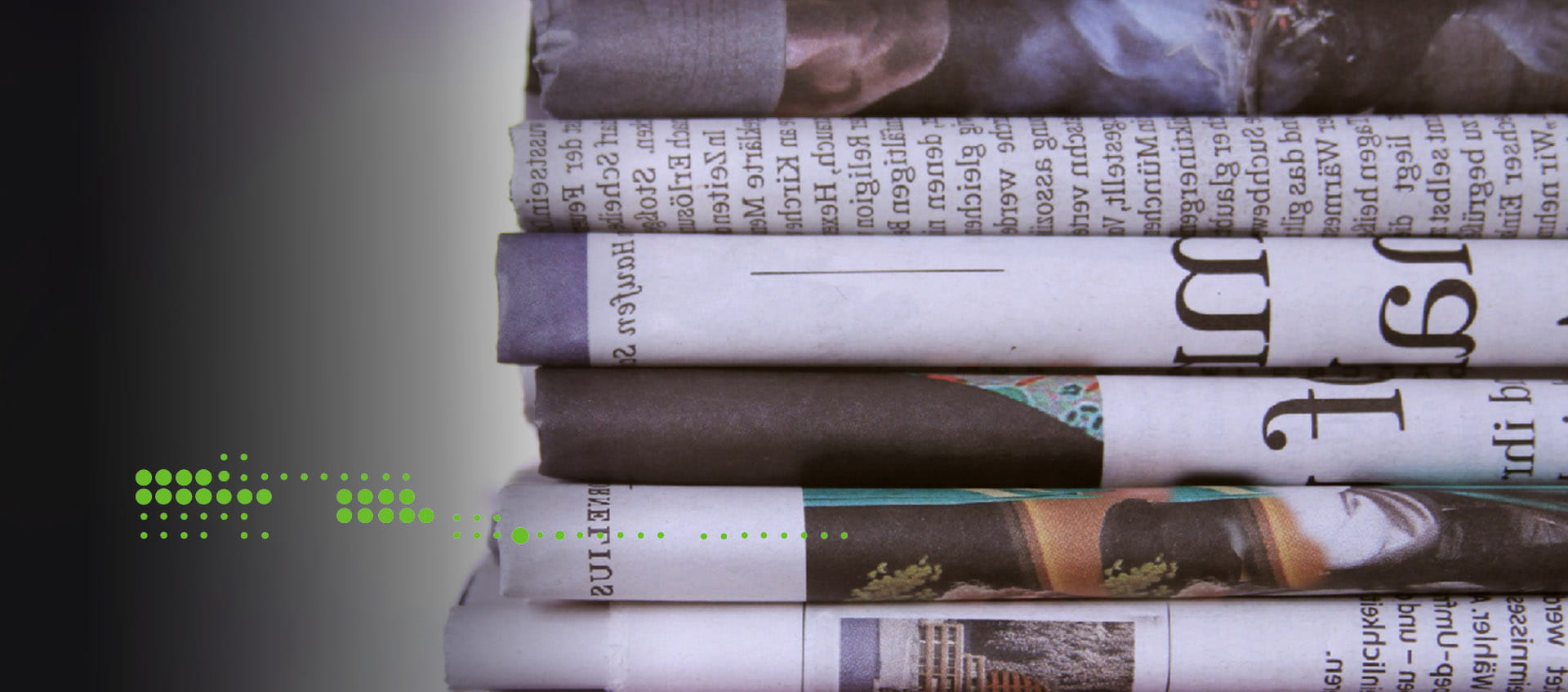 newspapers folded