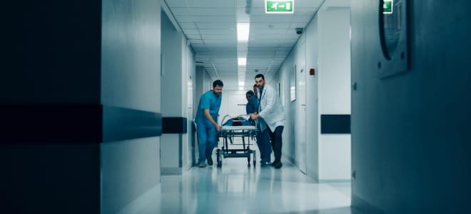 A hospital scene