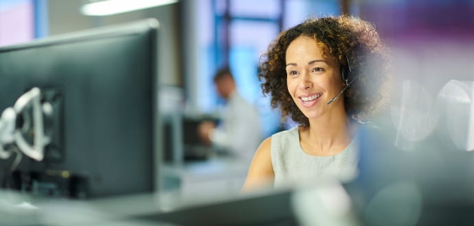 Woman at servicedesk
