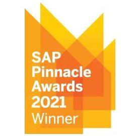 SAP Pinnacle Awards 2021 Winner badge
