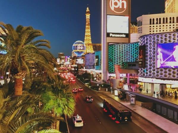 City of Las Vegas at night