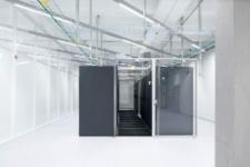 Open door at a data center