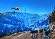 Tour de France team on route