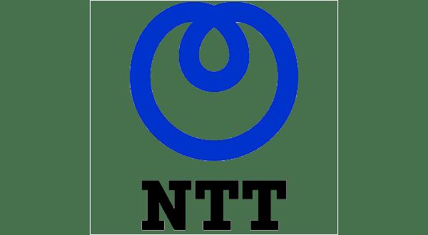 NTT blue and black logo