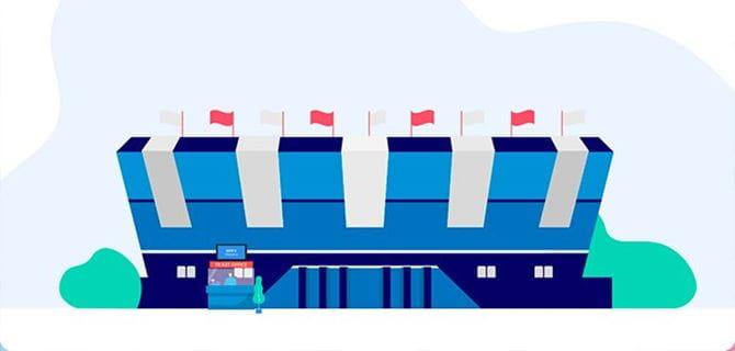Animated image of sports stadium