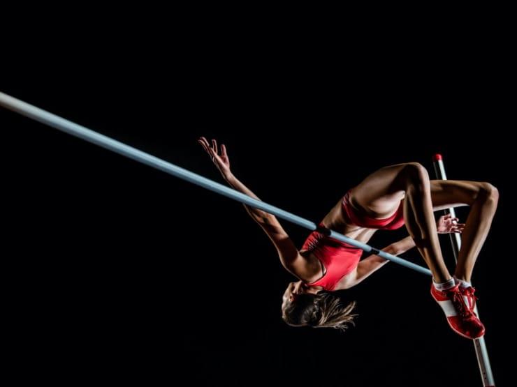 A high jumper