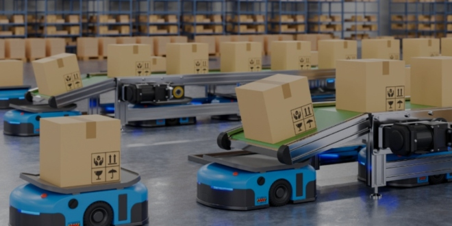 Robotic system in a warehouse