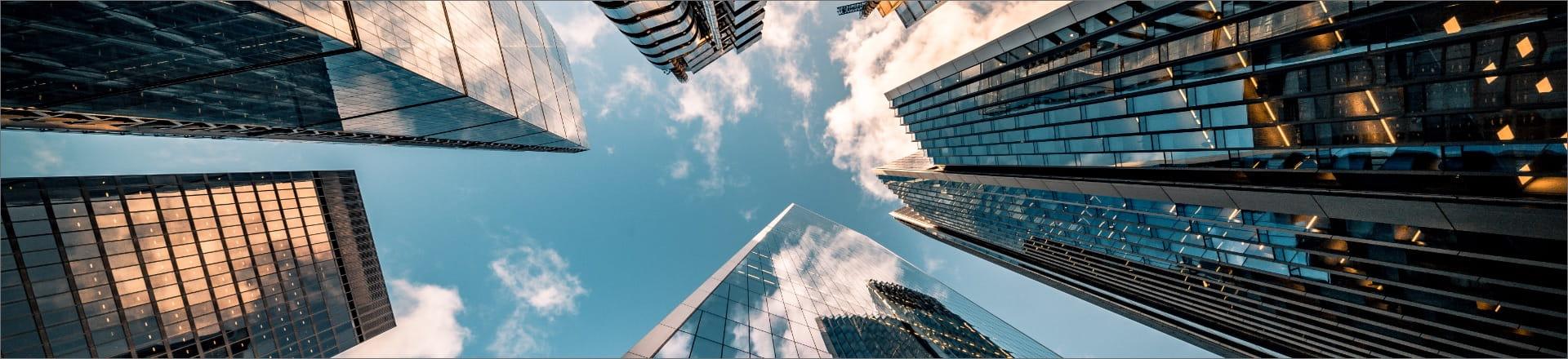 Buildings taken from below