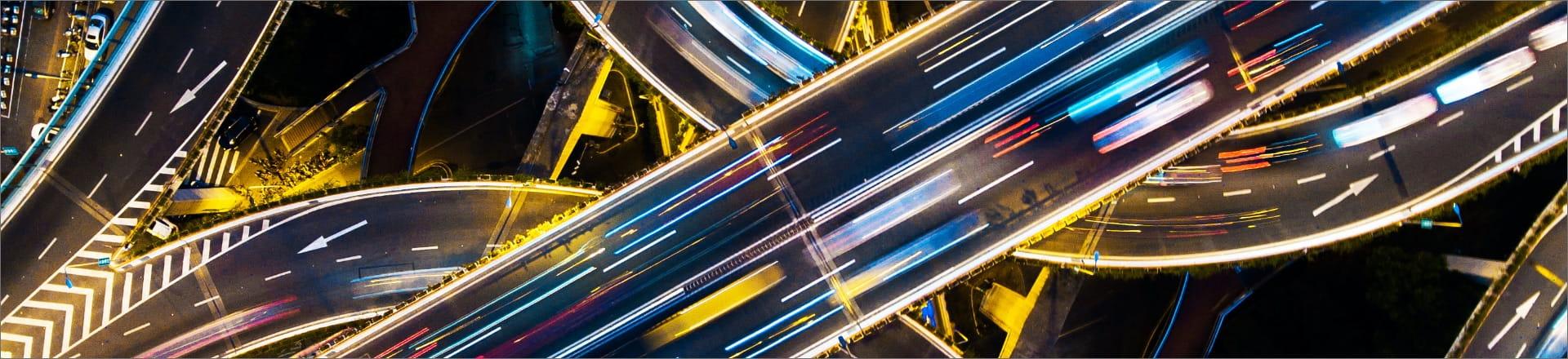Moving traffic at night