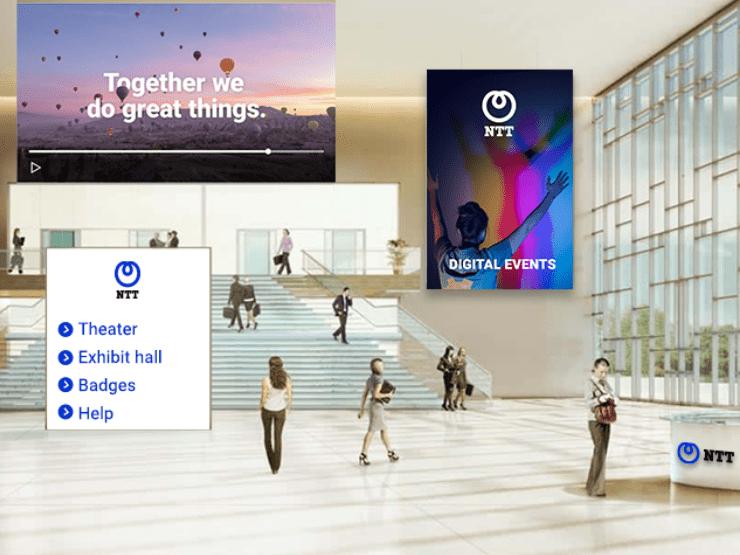 A virtual room to represent a virtual event