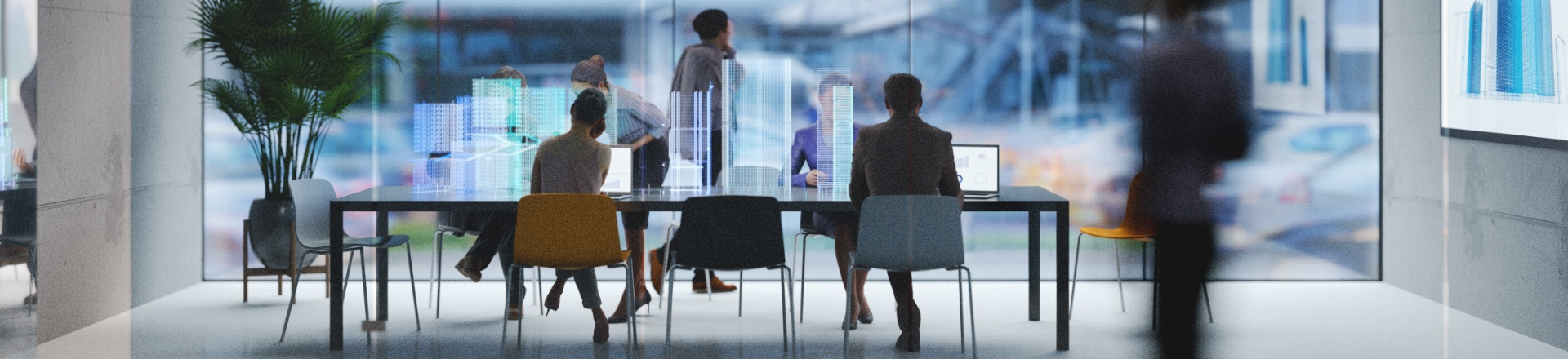 People collaborating in a boardroom