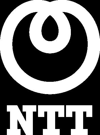 NTT white logo